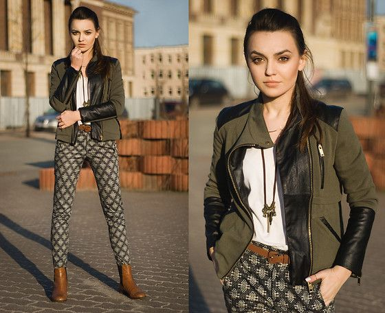 Sheinside Jacket, Zara Trousers, Vagabond Shoes