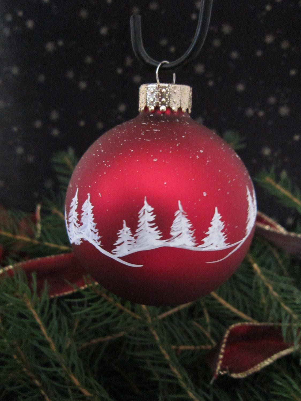 Handpainted Glass Christmas Ornament. | Christmas ...