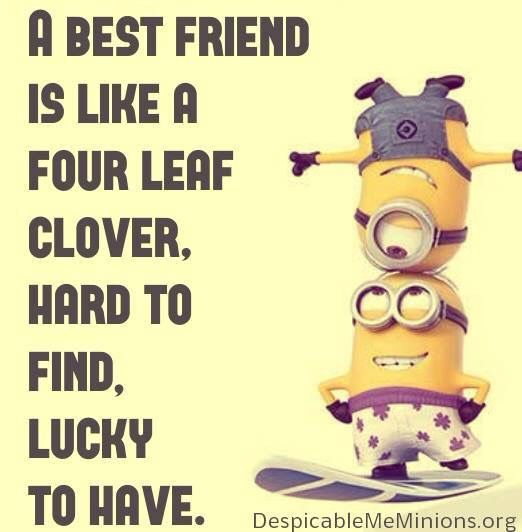 A Best Friend Minions Funny Minions Friends Friends Quotes