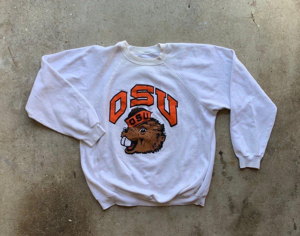 Vintage 80s Oregon State University Sweater Osu Beavers Etsy State Sweatshirt College Sweater Oregon State [ 826 x 1052 Pixel ]