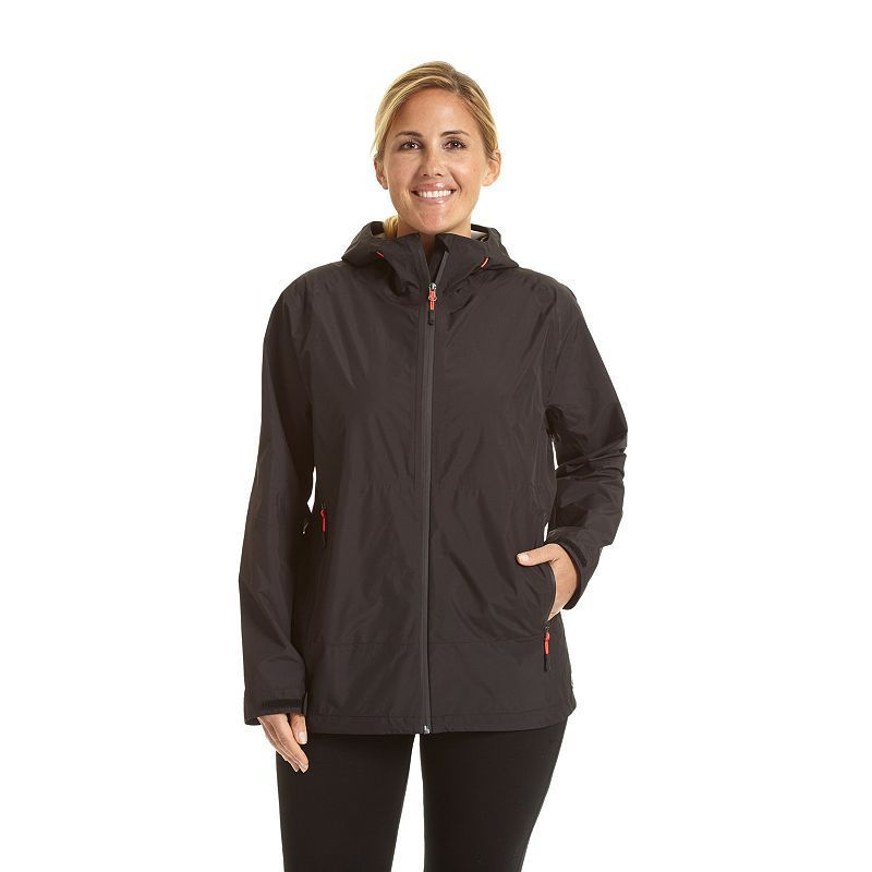 plus size champion hooded soft shell rain jacket, women's, size