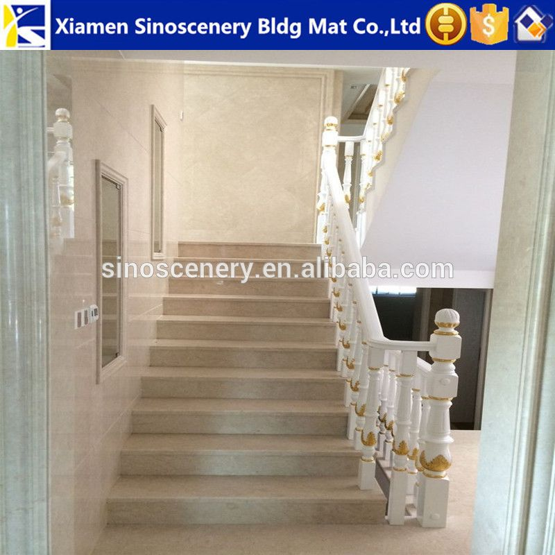 Crema Marfil Beige Marble Staircase Modern Staircase,prefabricated Stairs  Indoor Outdoor