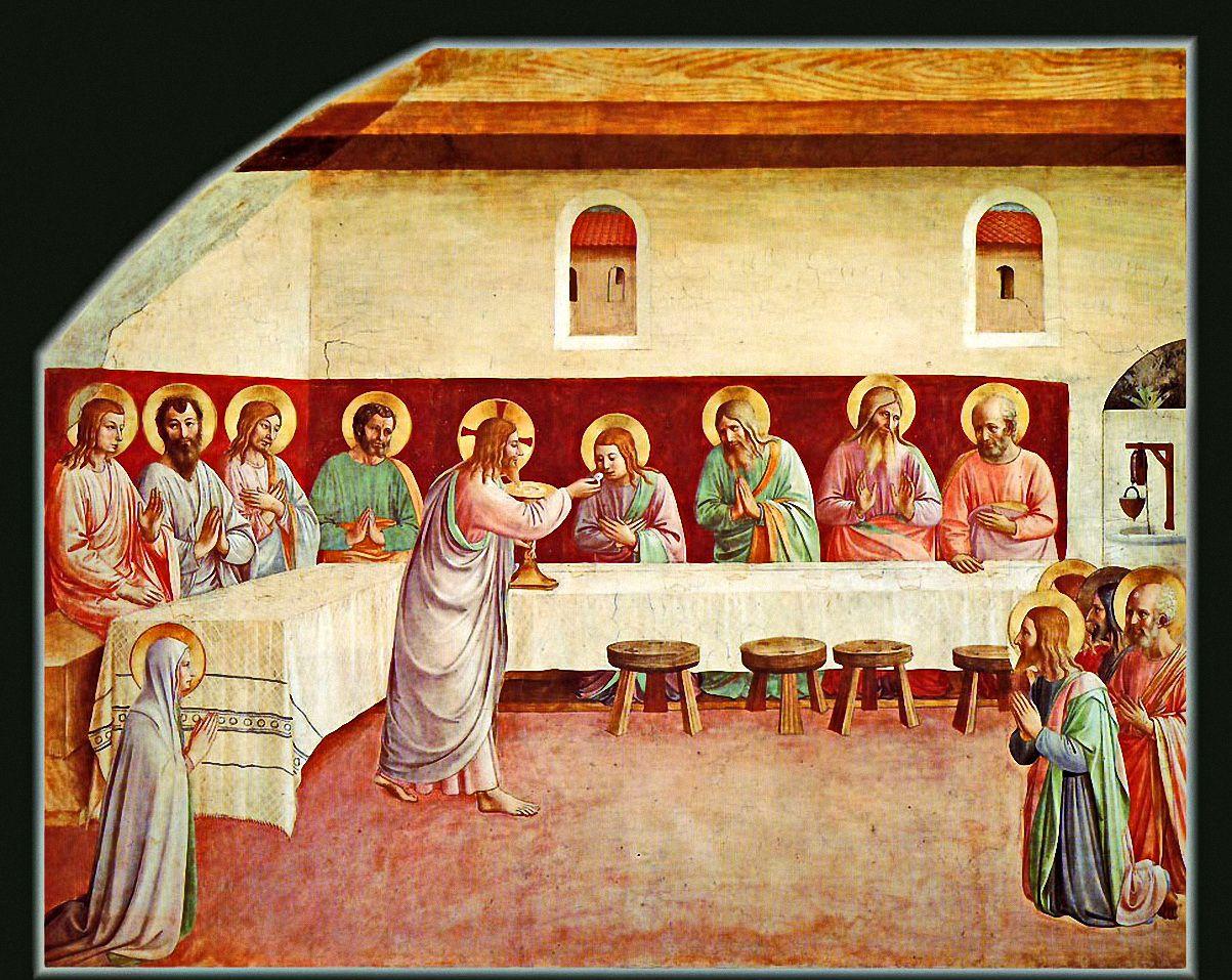 ANGELICO, FRA Vicchio di Mugello, Florencia, 1395 – Roma Communion of the Apostles c. 1437-1446. Fresco. 200 x 248 cm. Museo di San Marco, Florence