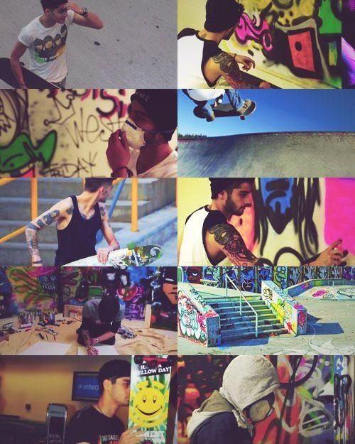Graffiti artist/skater boy