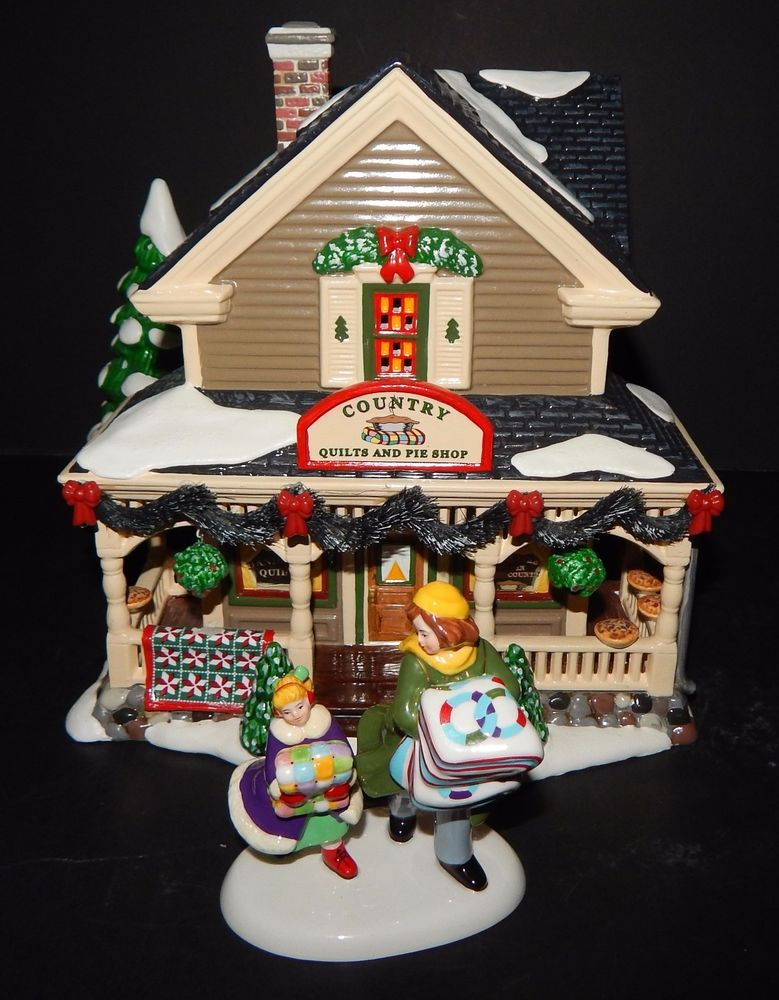 department 56 snow village bucks county country quilts and pies rh pinterest com