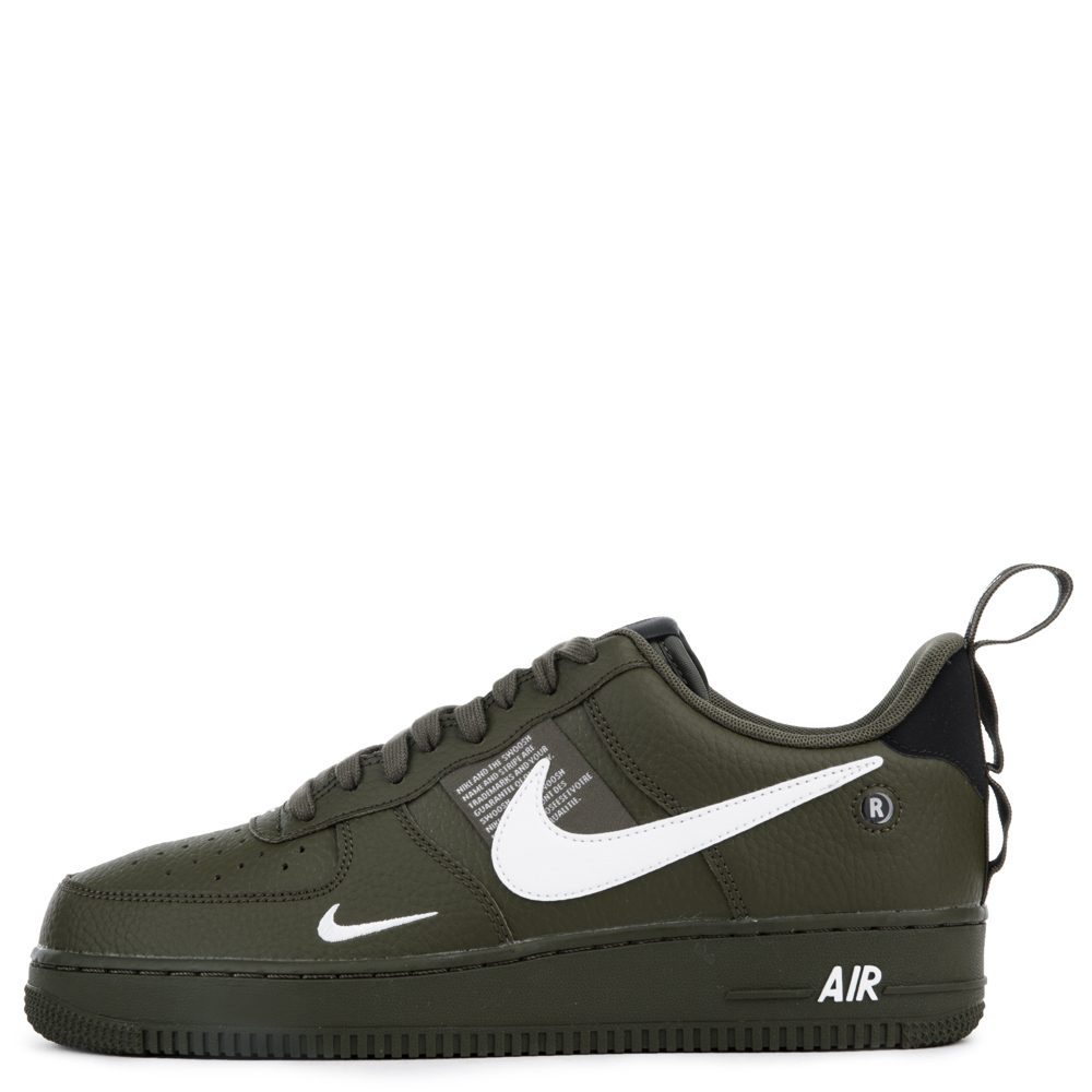 Nike Air Force 1 07 Lv8 Utility Olive Canvas White Black Tour