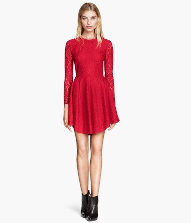 Lace Circle Dress - Product Detail | H&M US | Want It | Pinterest