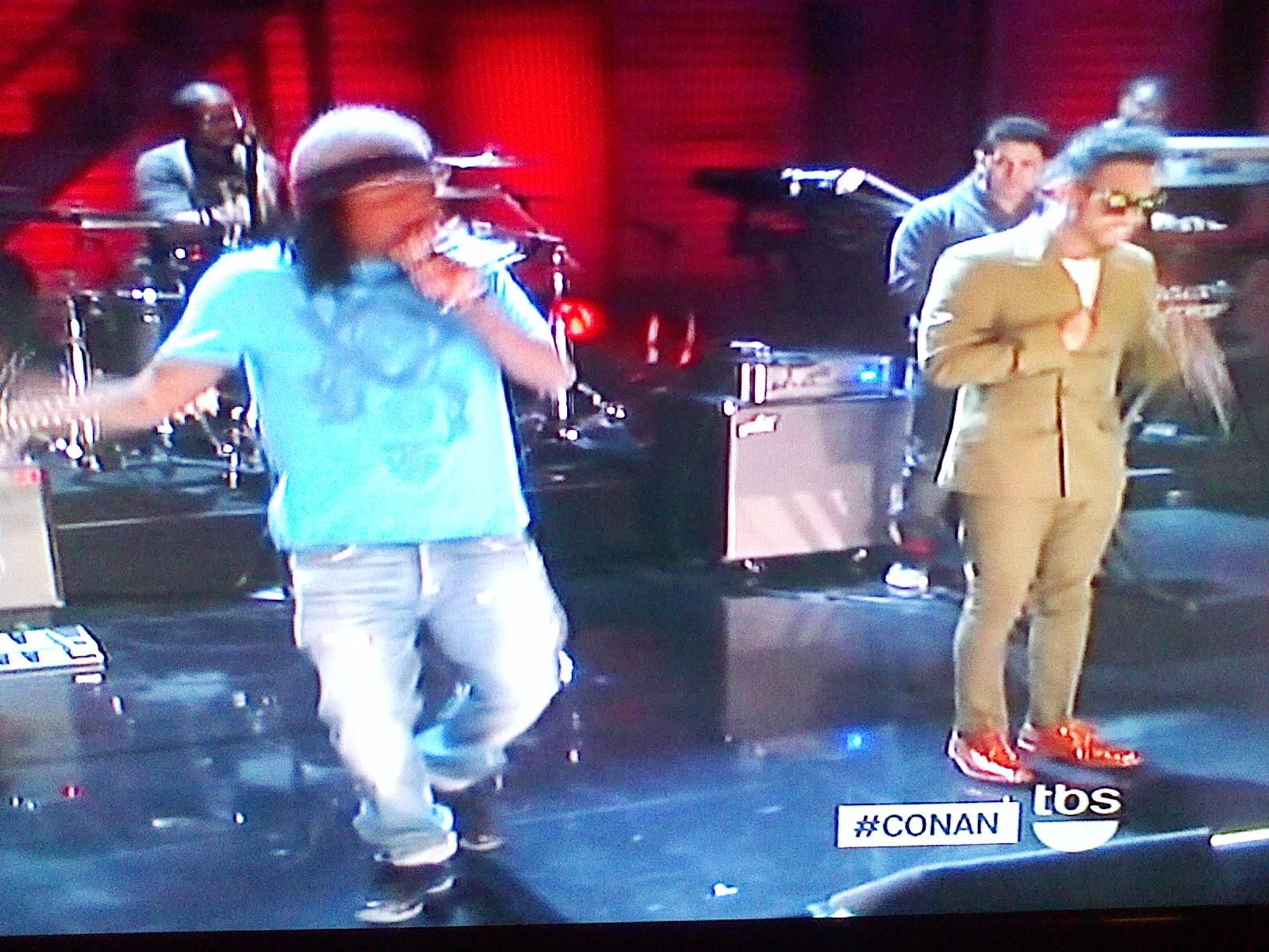 Miguel And Wale Performing Lotus Flower Bomb On Conan Feb 12 2012