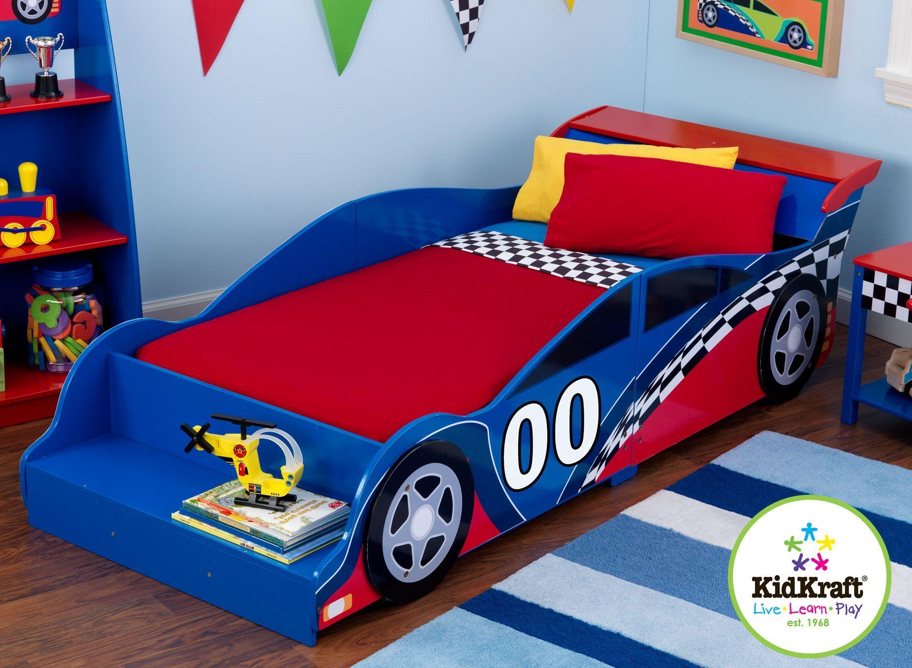 Kid Kraft Race Car Toddler Bed Cama Cunas Para Ninos Muebles Ninos Cama Auto