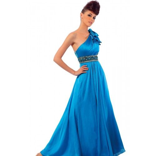 Tie up Knot Shoulder Diamante Beaded Illusion Back Satin maxi dress