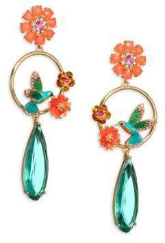 Kate Spade New York Hummingbird Crystal Drop Earrings