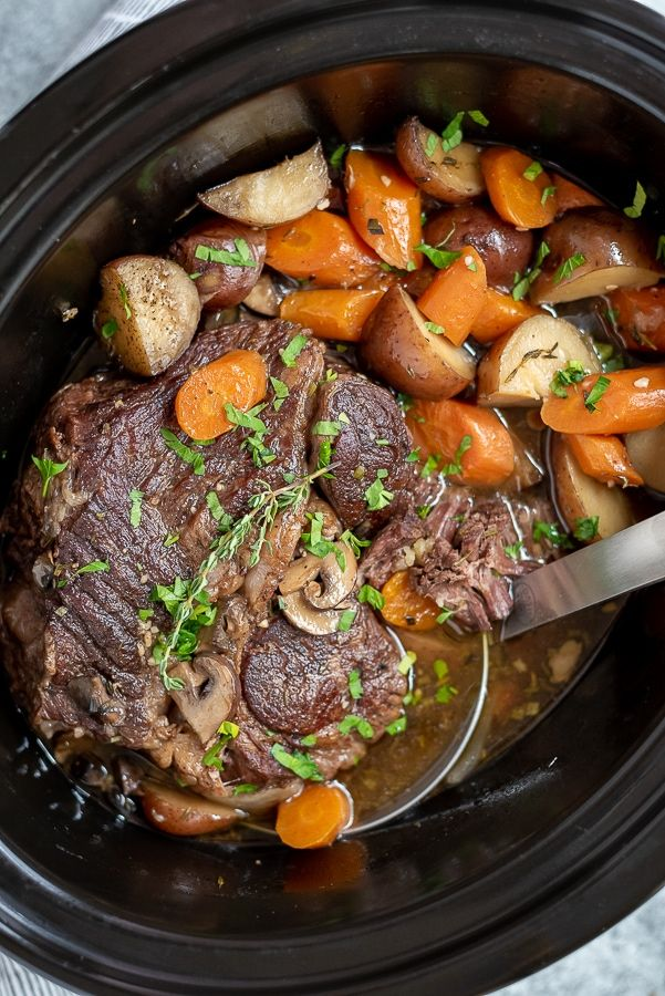 Slow Cooker Pot Roast   With Peanut Butter on Top