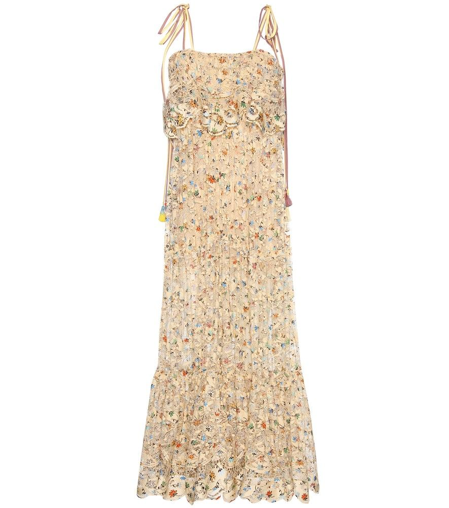 895779fcb816 Chloé - Printed lace cotton-blend maxi dress - Hot off the runway and  straight