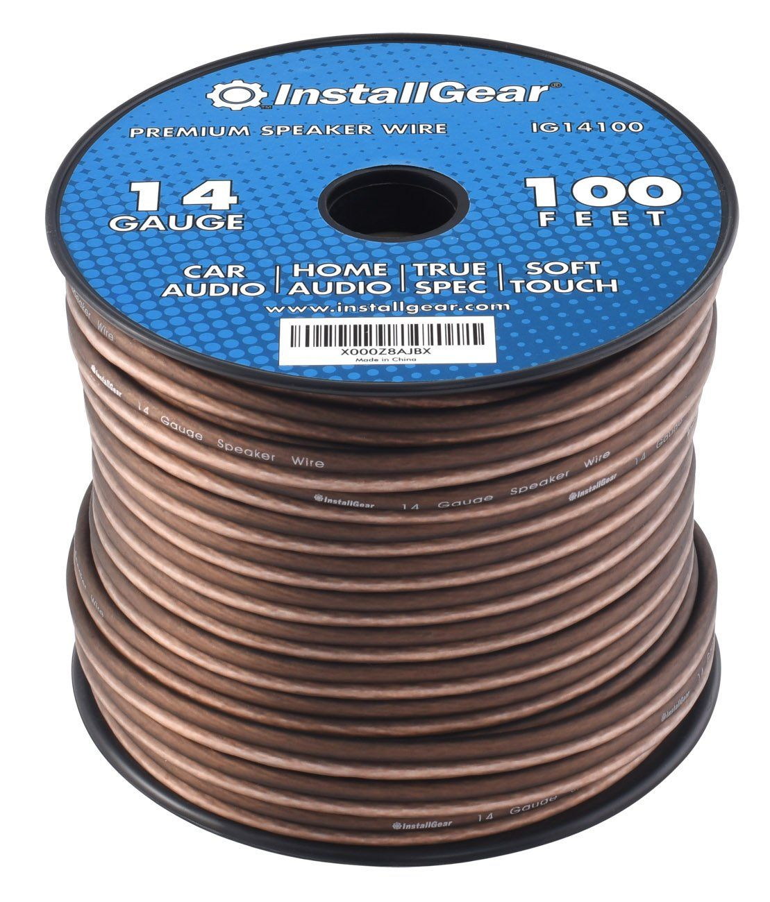 InstallGear 14 Gauge AWG 100ft Speaker Wire True Spec and Soft ...