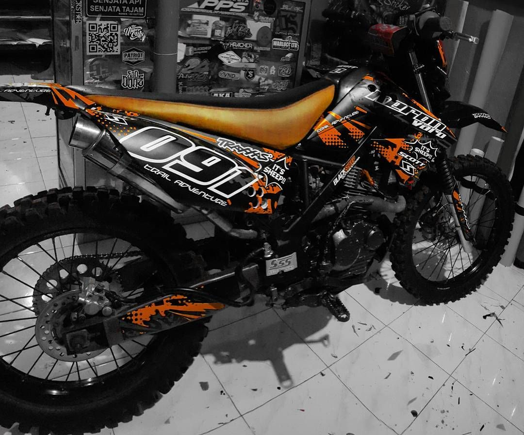 Kawasaki Klx Dc Grunge Orange Cutting Sticker Wiring Harness Dtracker