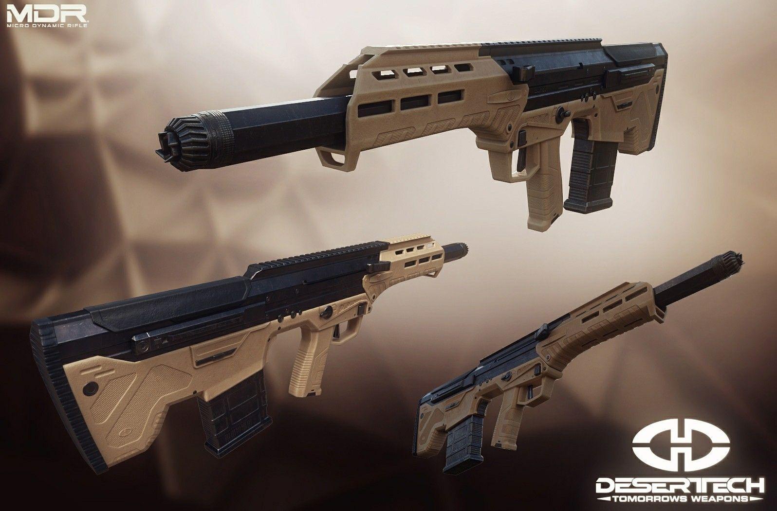 MDR Desert Tech bullpup 3d by Enjoy3D Оружие
