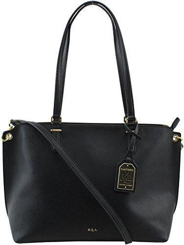 Lauren Ralph Lauren Medium Abby Shopper, Black   Designer Handbags ... 447331b687