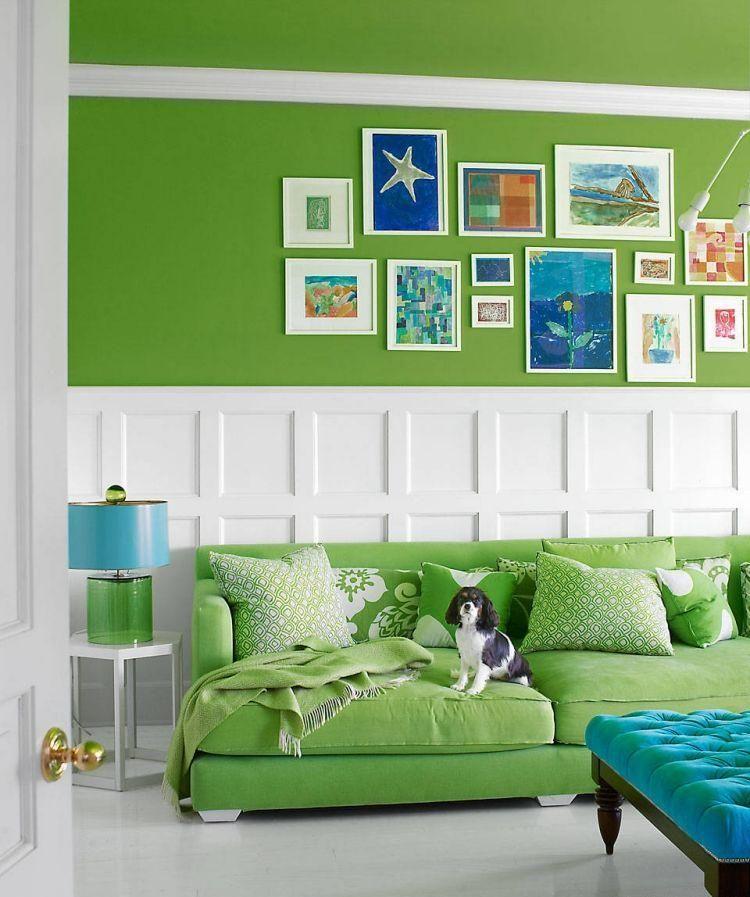 Peinture Murale Dans Le Salon Et Idees De Deco En 25 Photos Sit