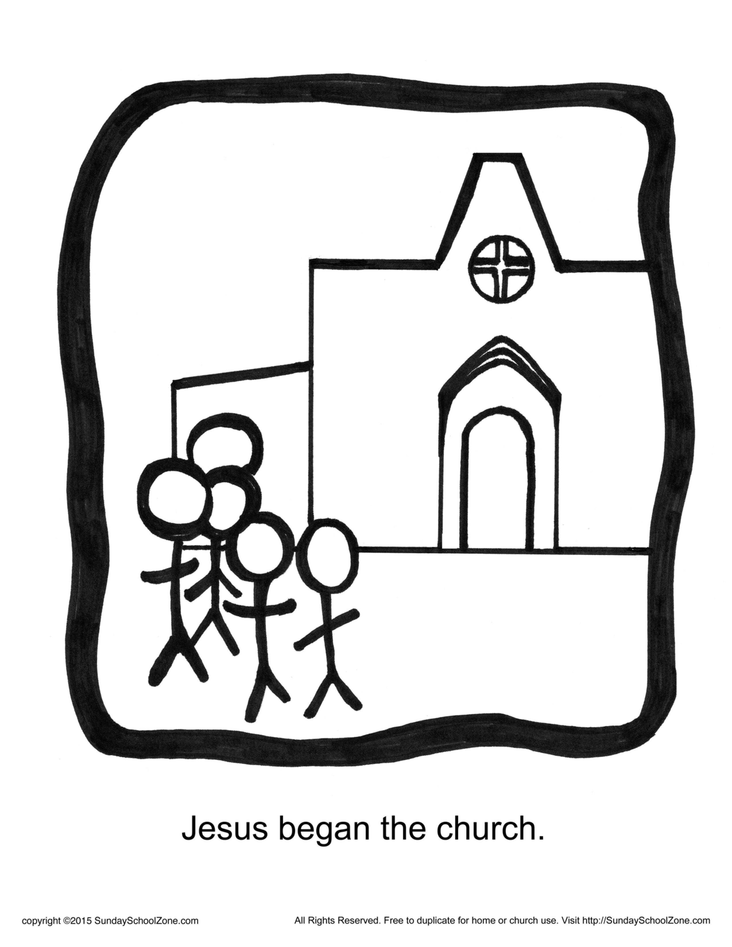 Jesus Began The Church Story Icon Coloring Page Children S Bible Activities Sunday School Activities For Kids Childrens Bible Activities Bible Activities Toddler Sunday School