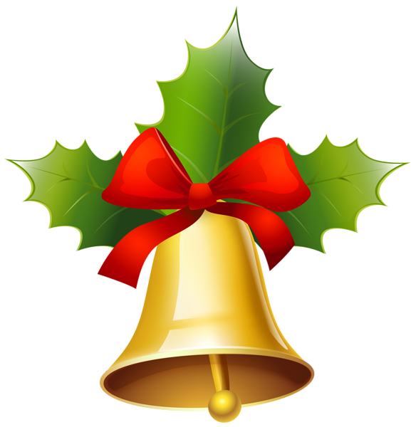 Golden Christmas Bell Png Clipart Image Christmas Bells Clip Art Clipart Images