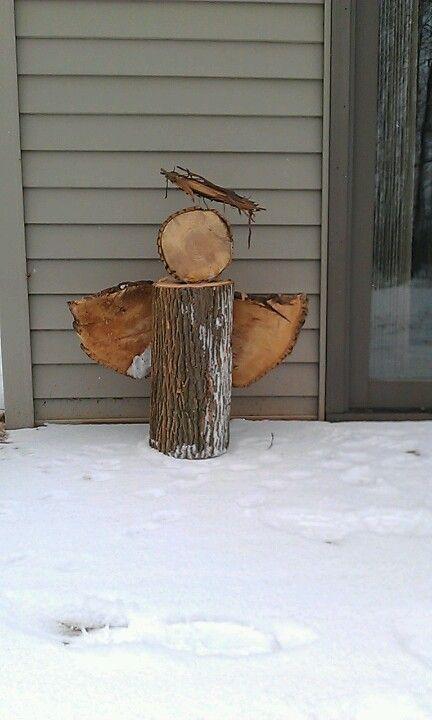 Holzengel - Advent und Weihnachten - Deko -Wood angel:, #Advent #Angel #deko #Holzengel #und...