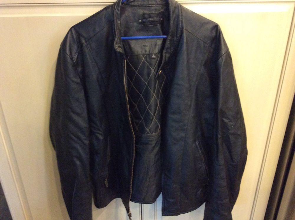 WILSONS Black Leather M. Julian Men's Jacket Large Insulated  #WilsonsLeather #BasicJacket
