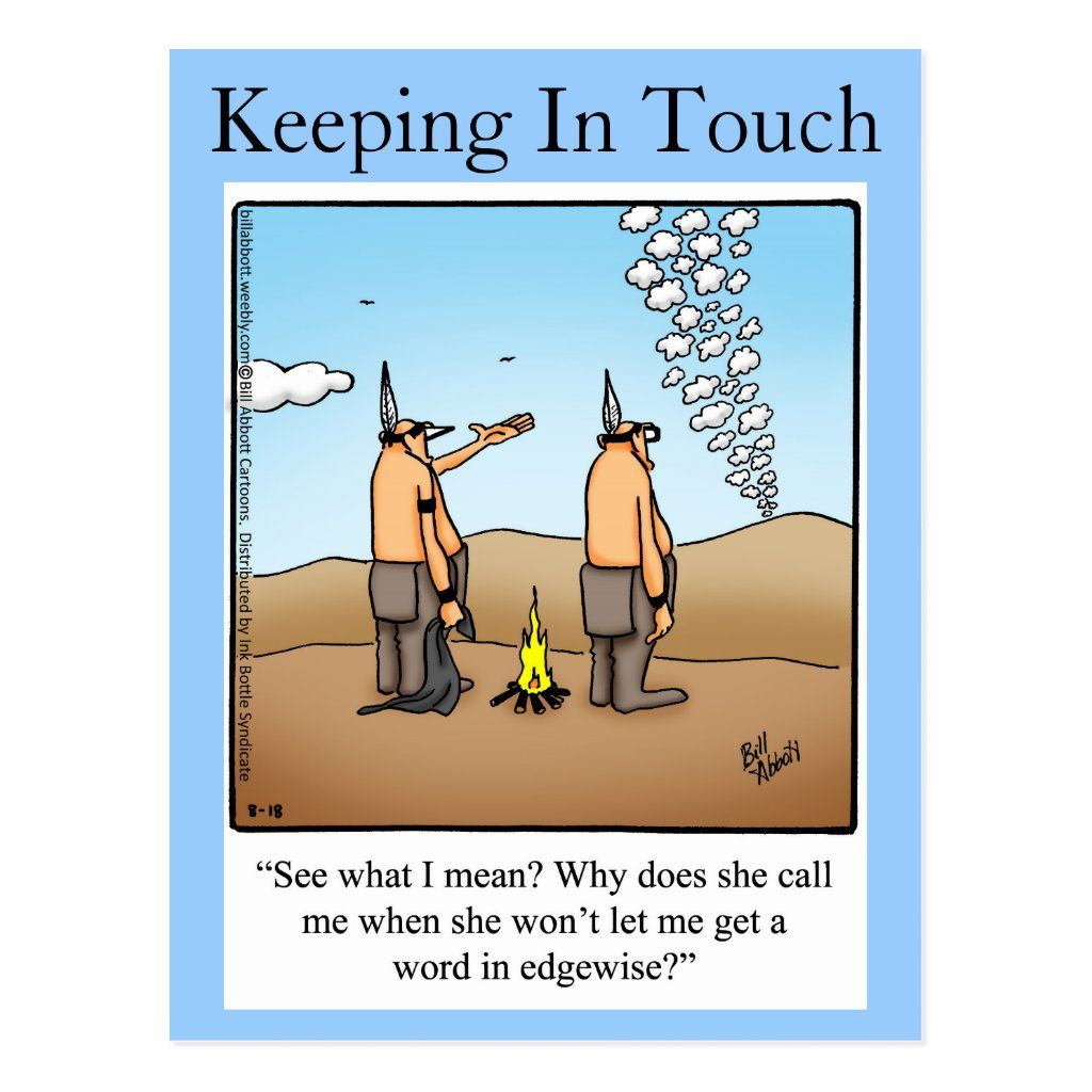 """Keeping In Touch Postcard """"Spectickles"""""""