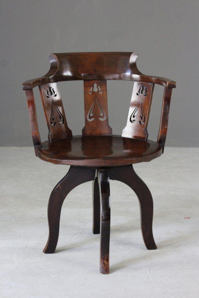 edwardian swivel desk chair edwardian furniture vintage rh pinterest com