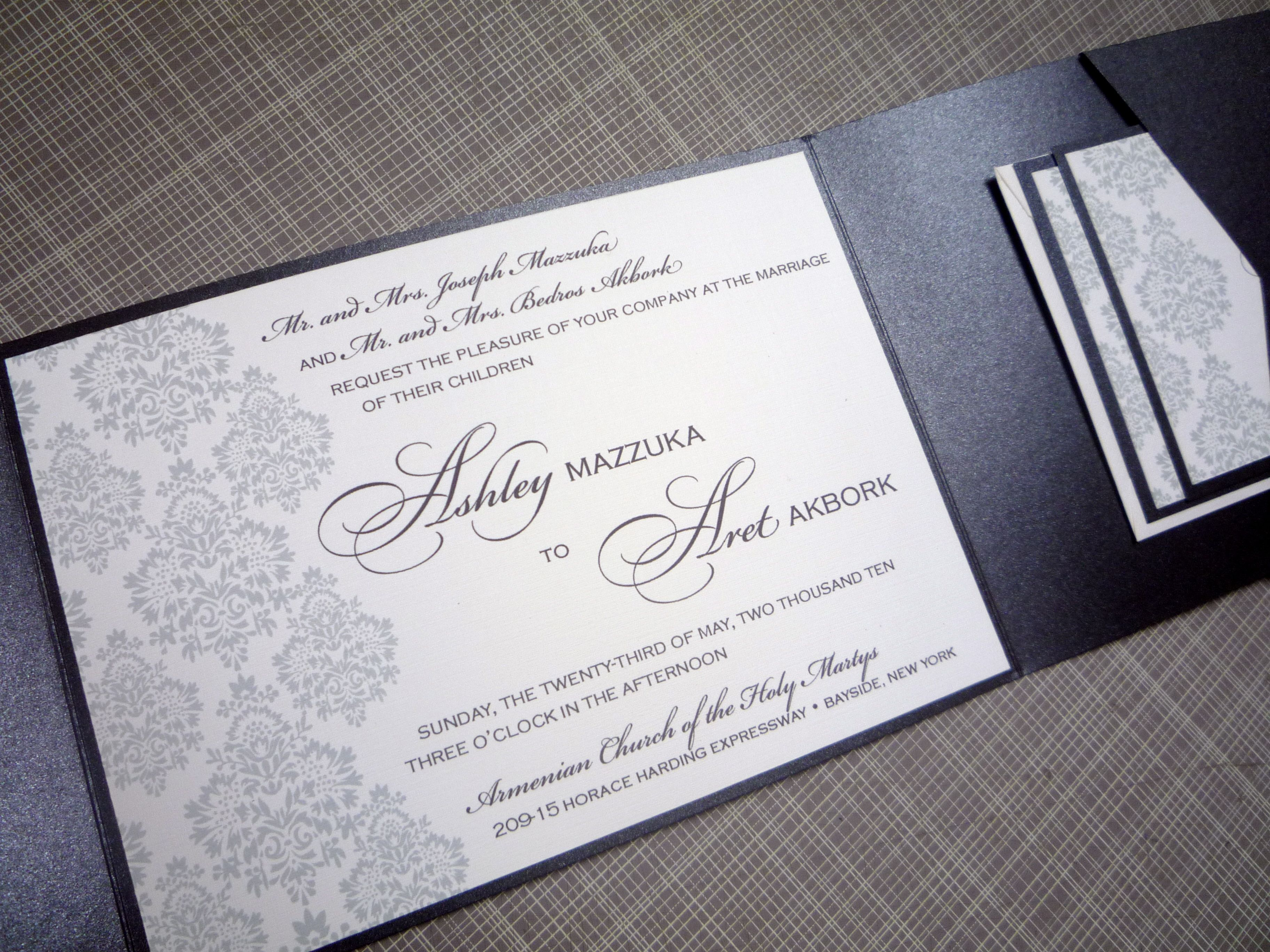 how to get directions for wedding invitations%0A Ashley and Aret  u     when you opened the sealed invitation it showed this  beautiful  two