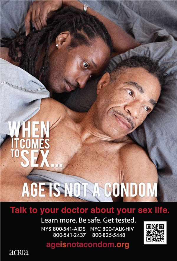 Advertising using sexuality and aging