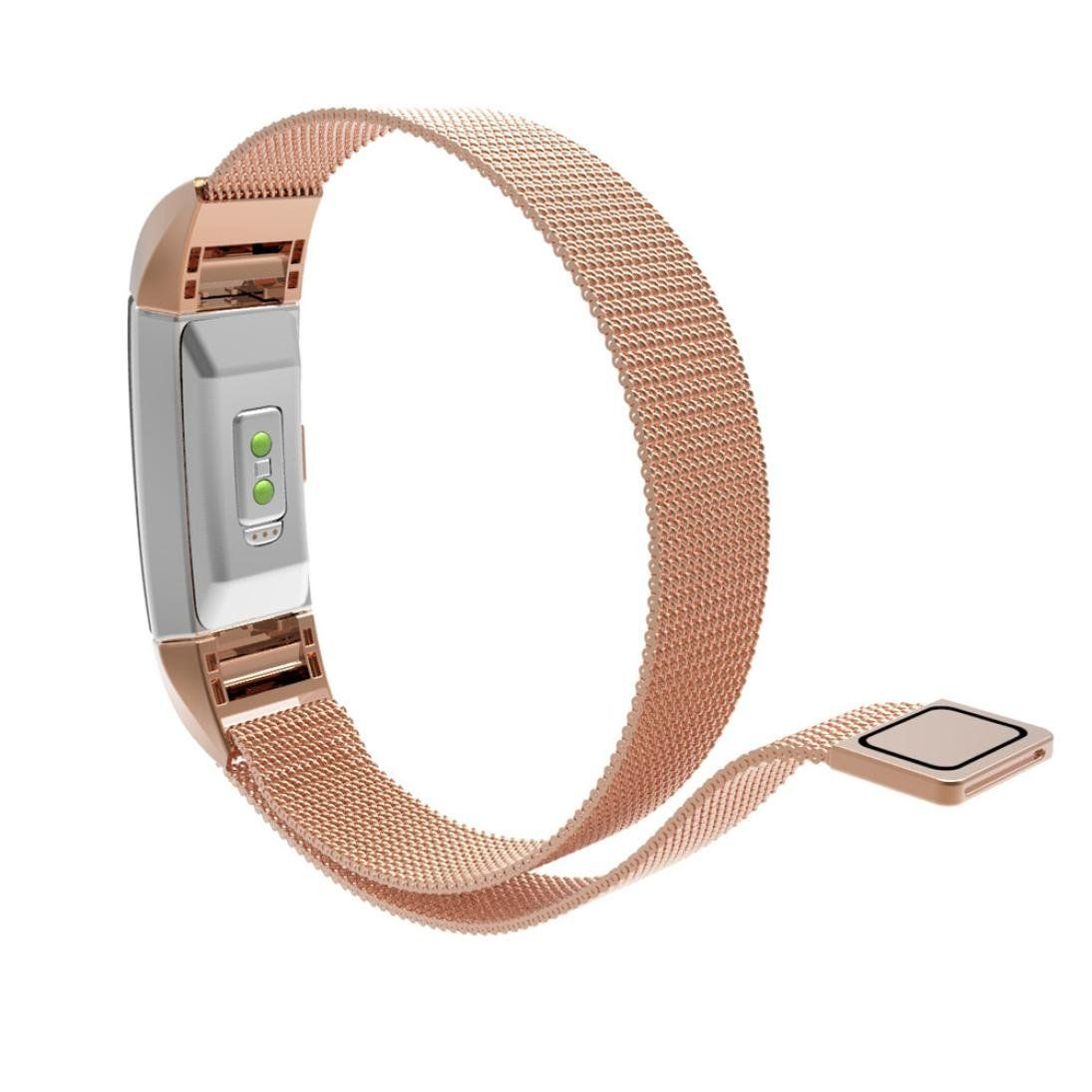 Creazy milanese stainless steel watch band strap bracelet for fitbit