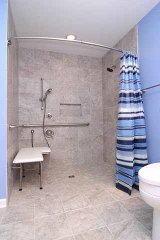 Bathroom Remodeling Hampton Roads Va ada accessible shower in newport news, virginia- criner remodeling