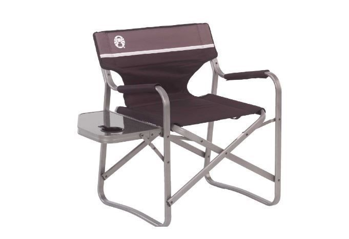coleman steel deck chair chairs for boats portable with side table rh pinterest com