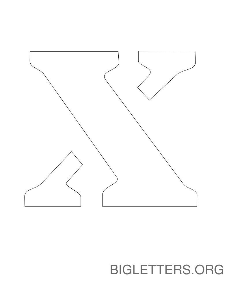 picture about Big Printable Letters known as Significant Printable Stencil Letter X Creativ Letter stencils