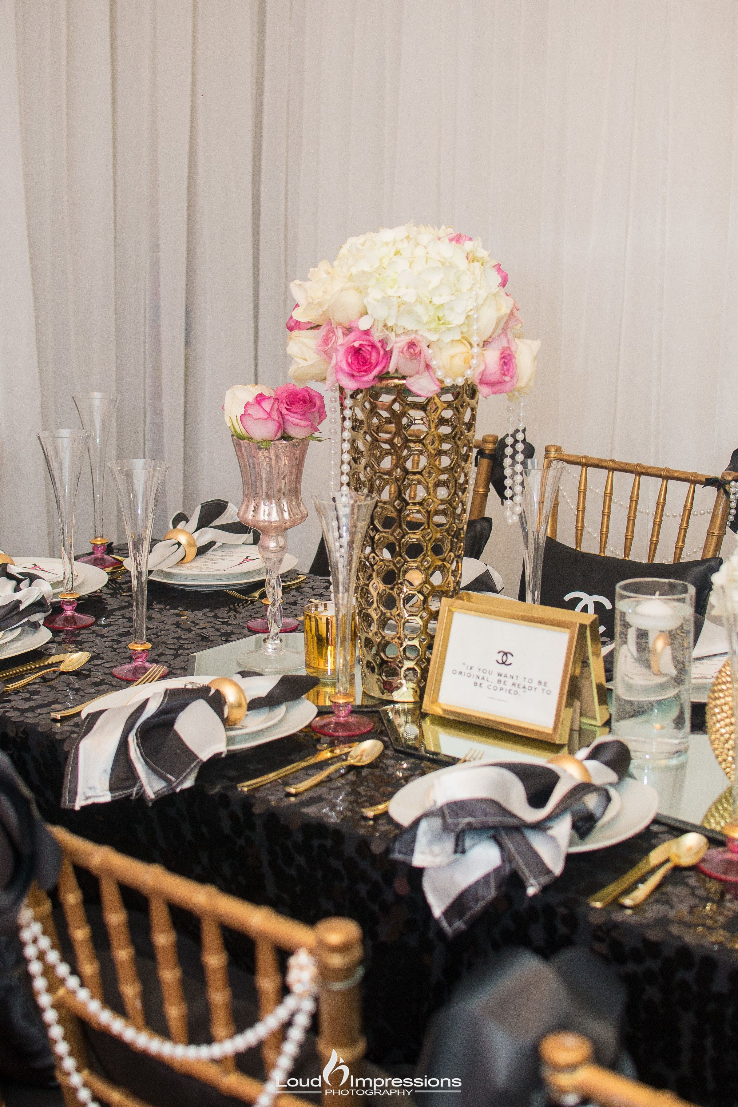beautiful coco chanel inspired table setting coco chanel inspired rh pinterest com