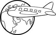 Clip Art Travel Outline