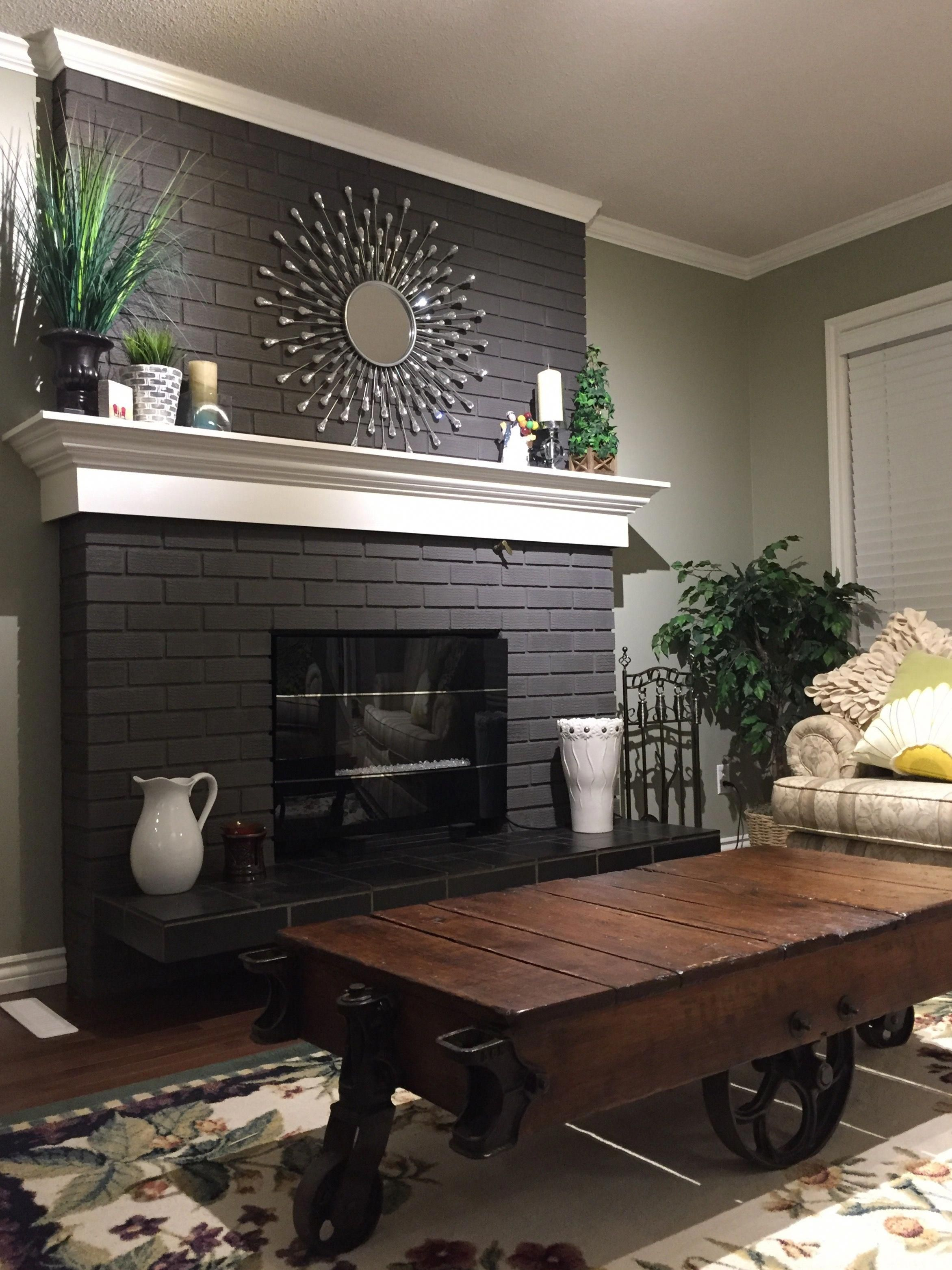 paint fireplace bricks makeoverfireplacetips remodel in 2019 rh pinterest com