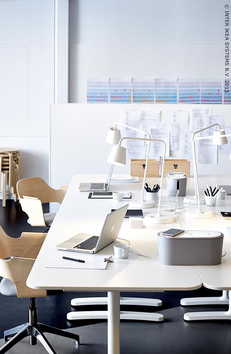 Boite À Cables Ikea chargeurs sans fils au bureau. boîte de gestion des câbles