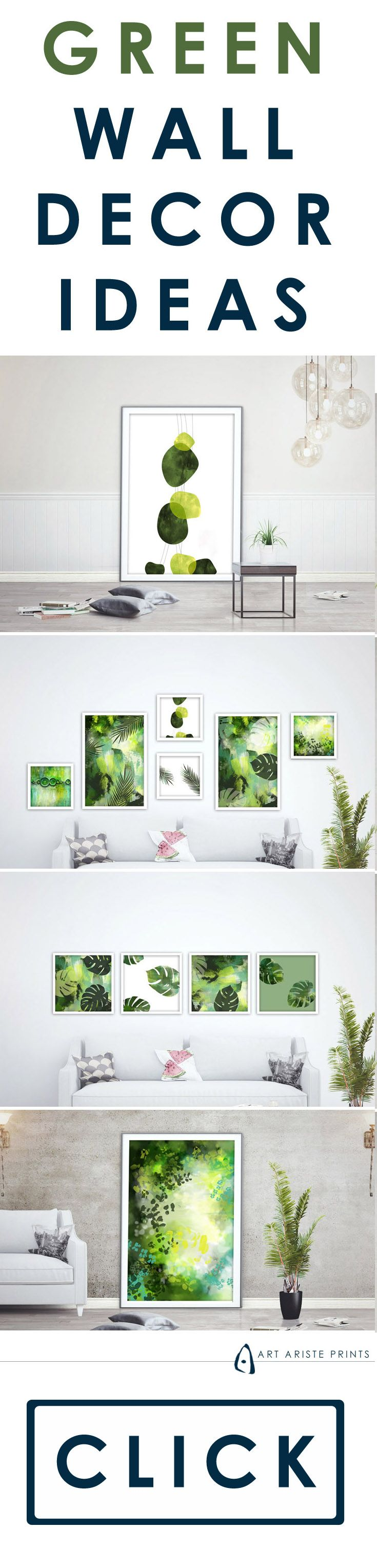 green gallery wall art decor ideas which will make your living space rh pinterest com