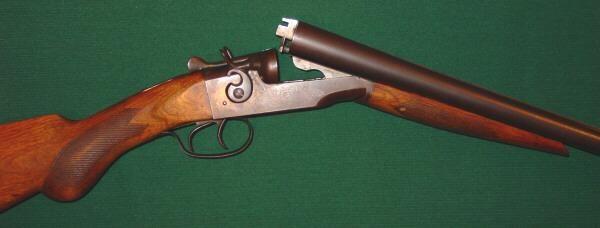 J  Stevens Arms Co  Model 235 Double Barrel 12 Gauge Shotgun