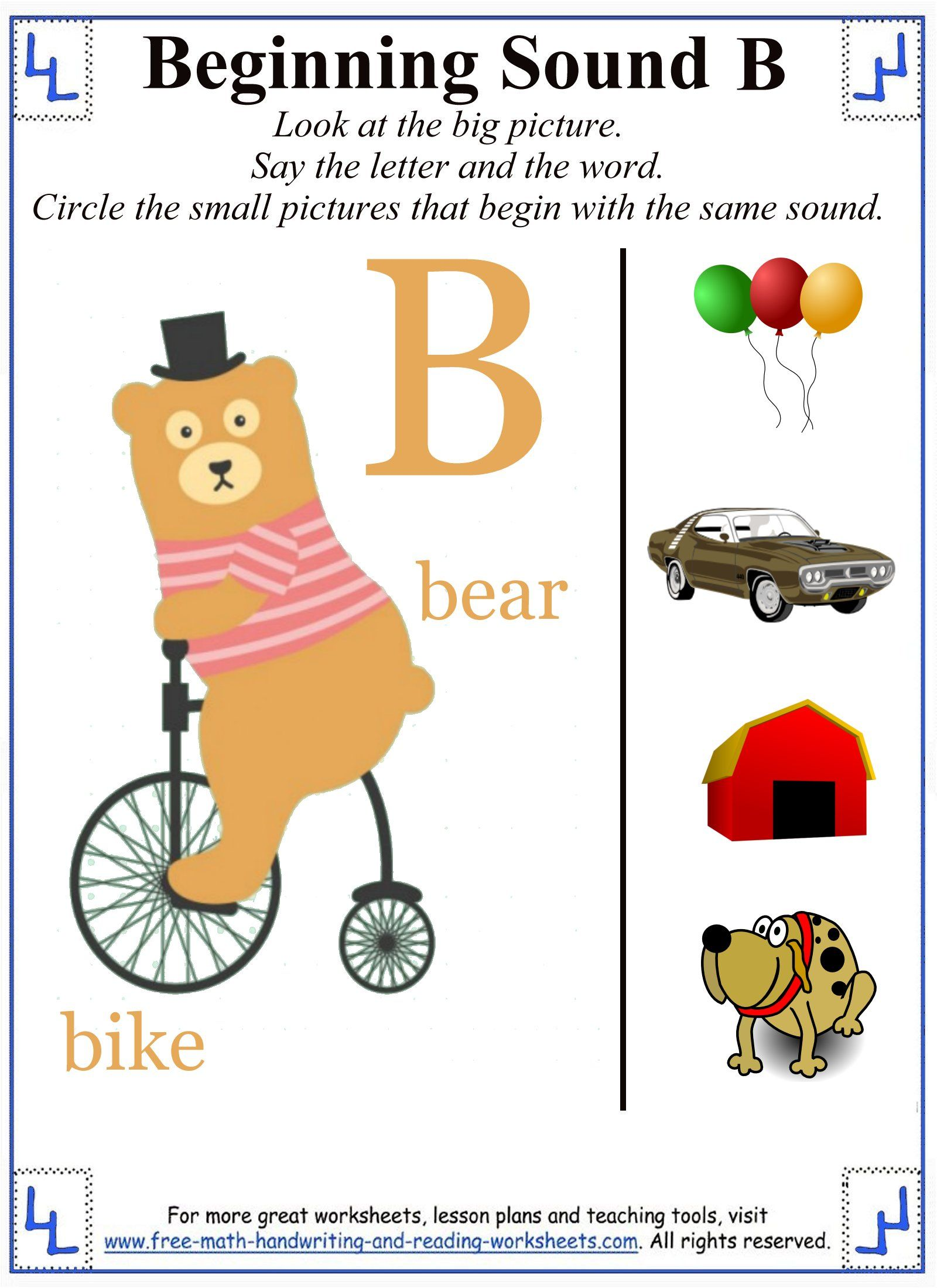 Letter B Worksheets With Images
