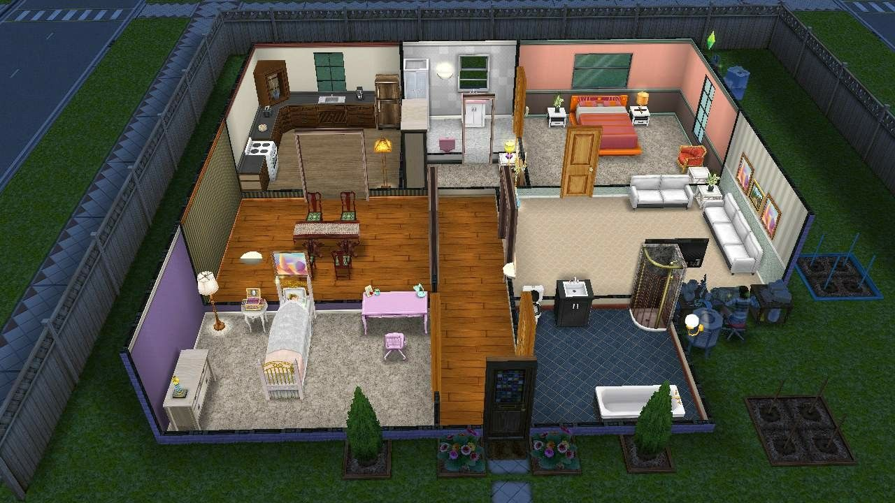 Sims Freeplay house design 1 Sims Freeplay