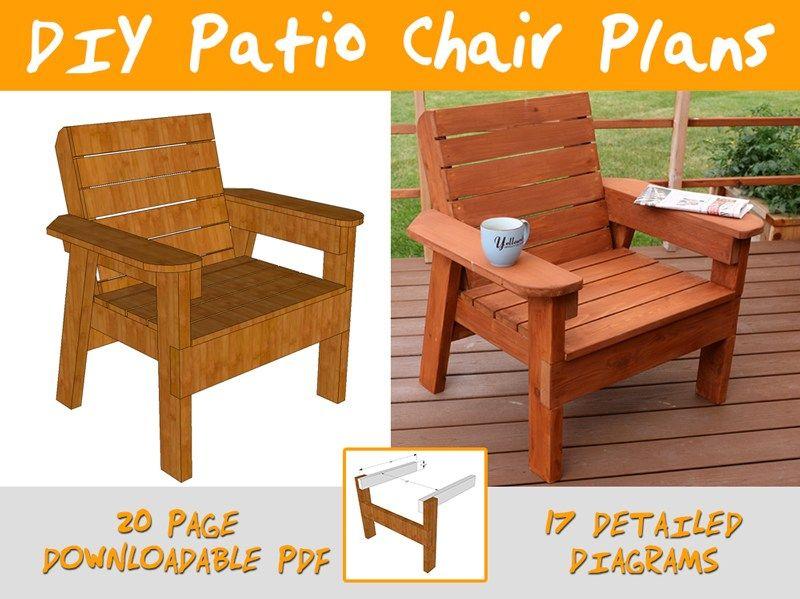 more click outdoor chair plans diy modern patio chair plans rh pinterest com