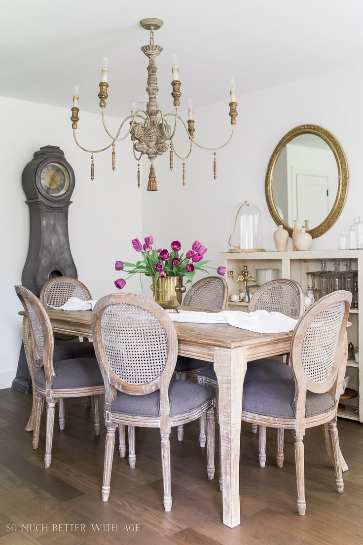 French Vintage Dining Room Before and