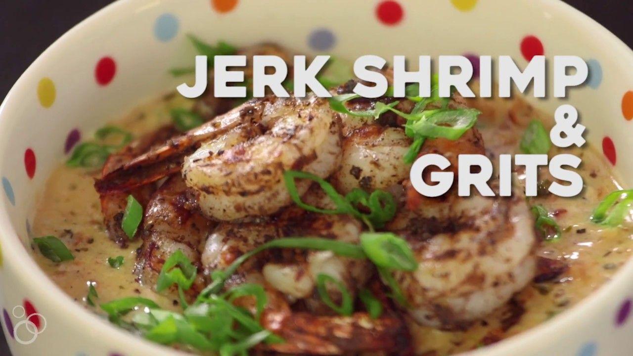Jerk Shrimp & Grits - YouTube #jerkshrimp