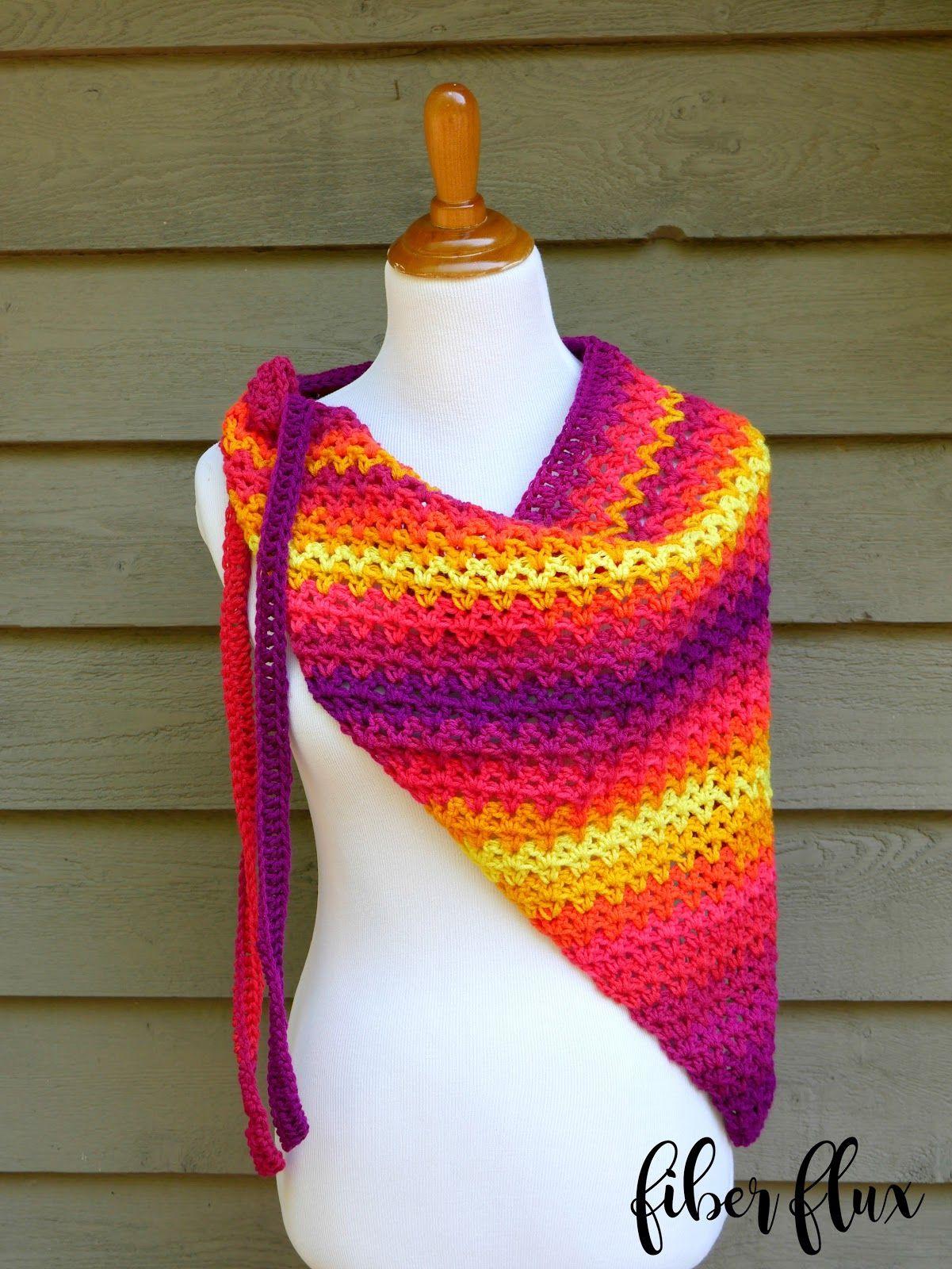Free Crochet Pattern...Tutti Frutti Beach Wrap! | Pinterest