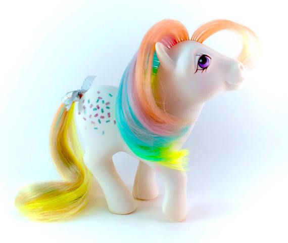 G1 My Little Pony Floater Magic Message Mint Yellow Pegasus Ponies