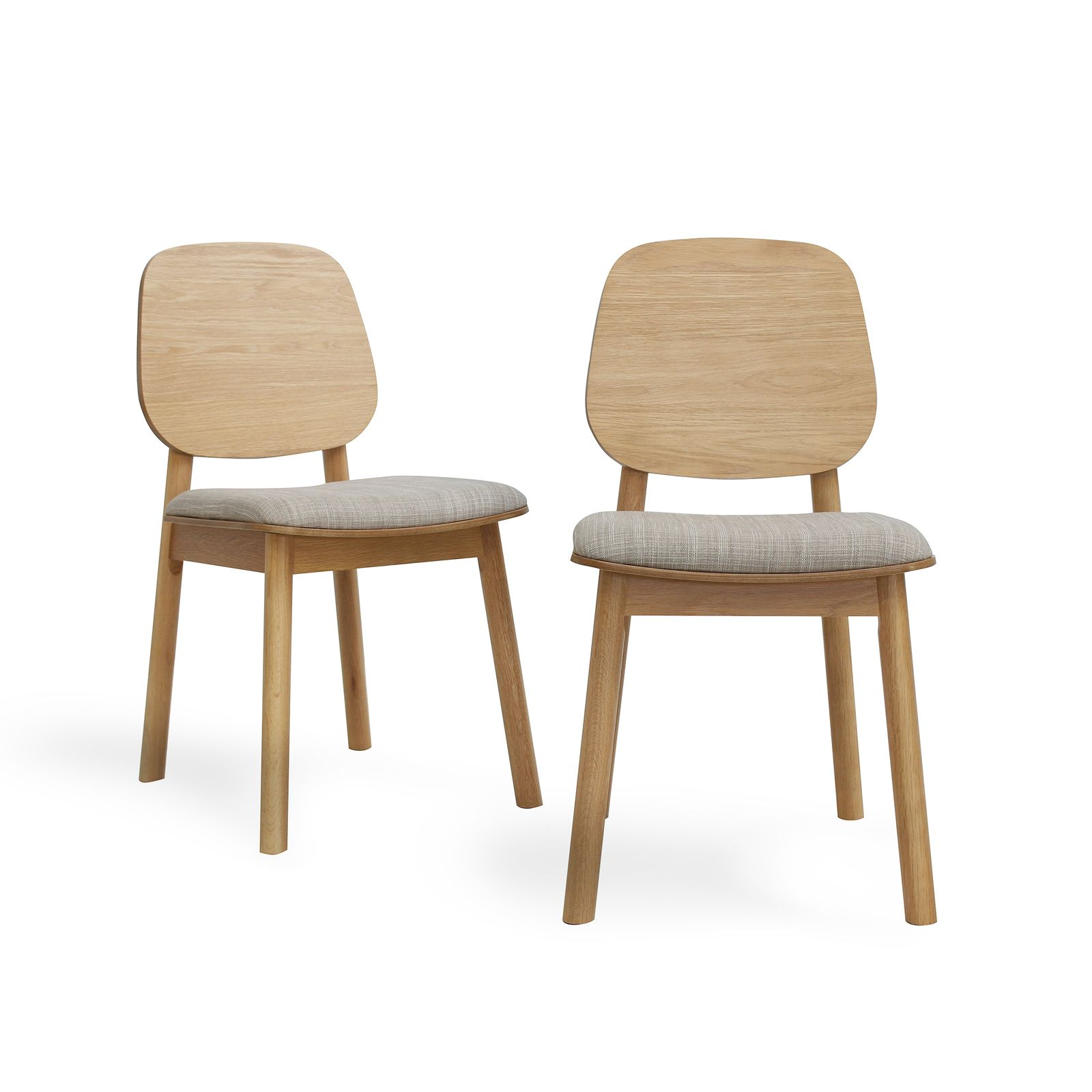 Set Of 2 Akira Contemporary Timber Back Dining Chair Dining