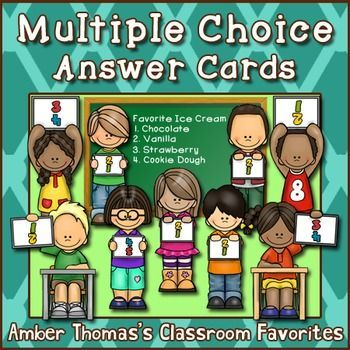 Multiple Choice Answer Cards | Close reading strategies ...