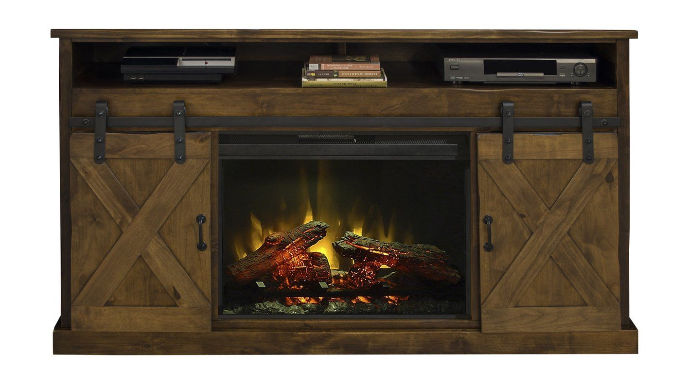 "Pullman TV Stand for TVs up to 75"" with Electric Fireplace"